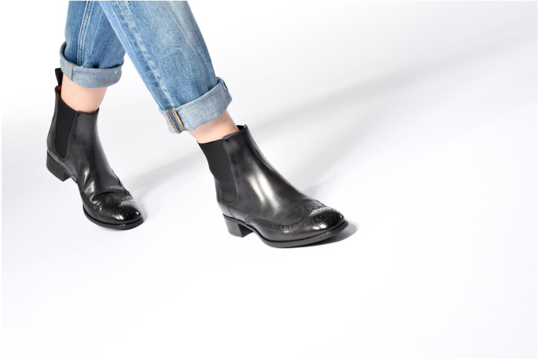 Bottines et boots Santoni Elodie 55133 Noir vue bas / vue portée sac