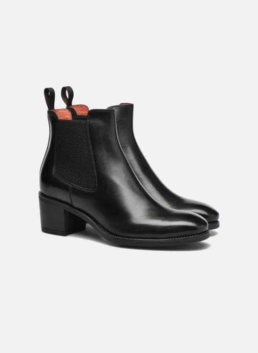 Ankle boots Santoni Fanny 52617 Black 3/4 view