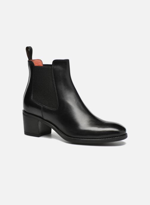 Ankle boots Santoni Fanny 52617 Black detailed view/ Pair view