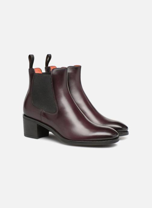 Ankle boots Santoni Fanny 52617 Burgundy 3/4 view