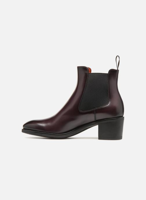 Ankle boots Santoni Fanny 52617 Burgundy front view