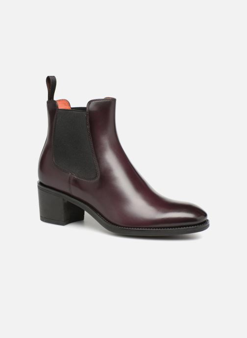 Ankle boots Santoni Fanny 52617 Burgundy detailed view/ Pair view