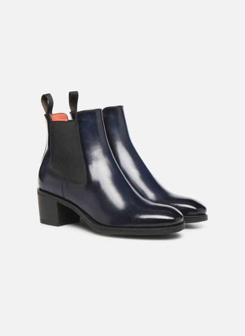 Bottines et boots Santoni Fanny 52617 Bleu vue 3/4