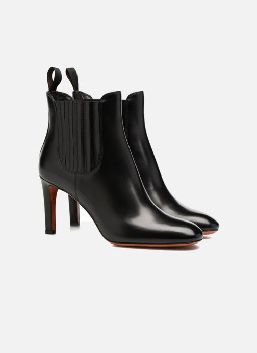Ankle boots Santoni Moss 54079 Black 3/4 view