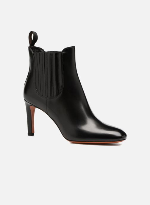 Ankle boots Santoni Moss 54079 Black detailed view/ Pair view