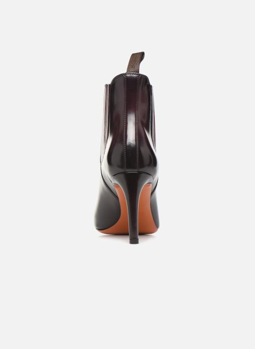 Botines  Santoni Moss 54079 Violeta      vista lateral derecha