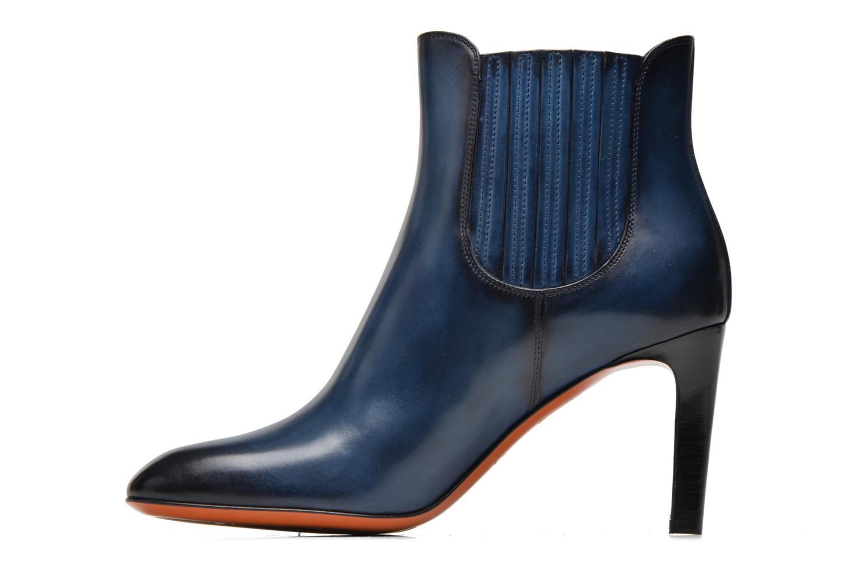Bottines et boots Santoni Moss 54079 Bleu vue face