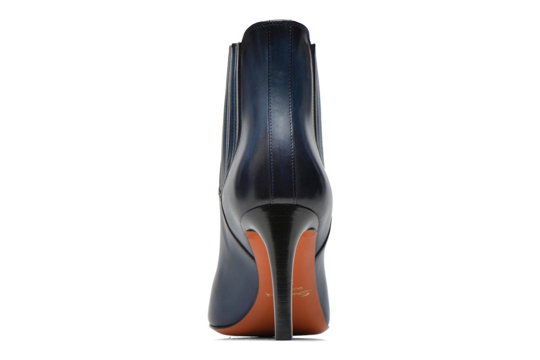 Bottines et boots Santoni Moss 54079 Bleu vue droite