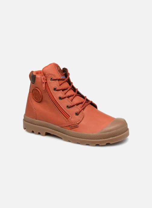 Bottines et boots Palladium Hi Cuff Wp K Orange vue détail/paire