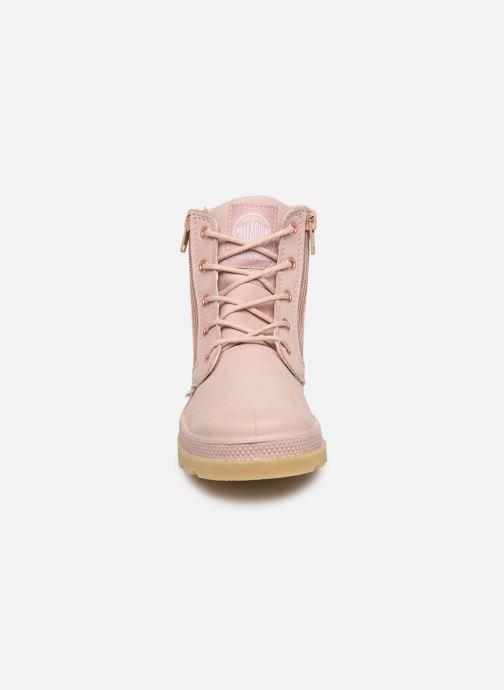 Bottines et boots Palladium Hi Cuff Wp K Beige vue portées chaussures