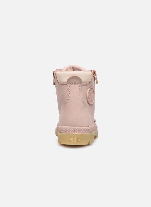 Bottines et boots Palladium Hi Cuff Wp K Beige vue droite
