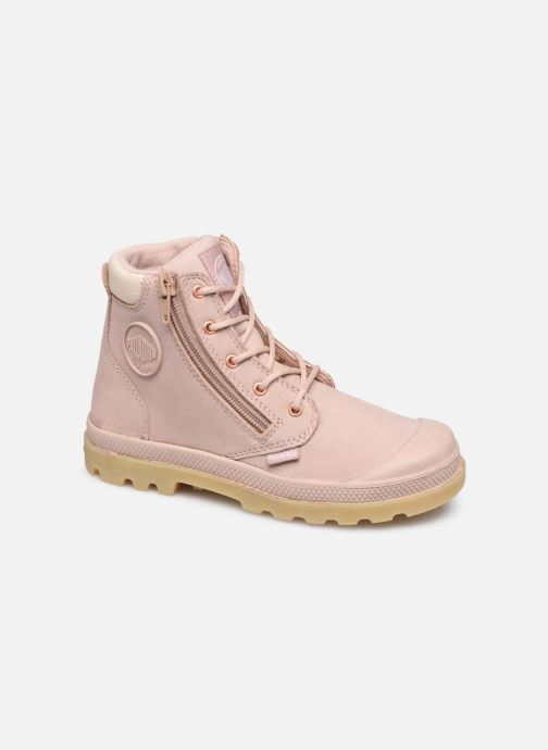 Bottines et boots Palladium Hi Cuff Wp K Beige vue détail/paire