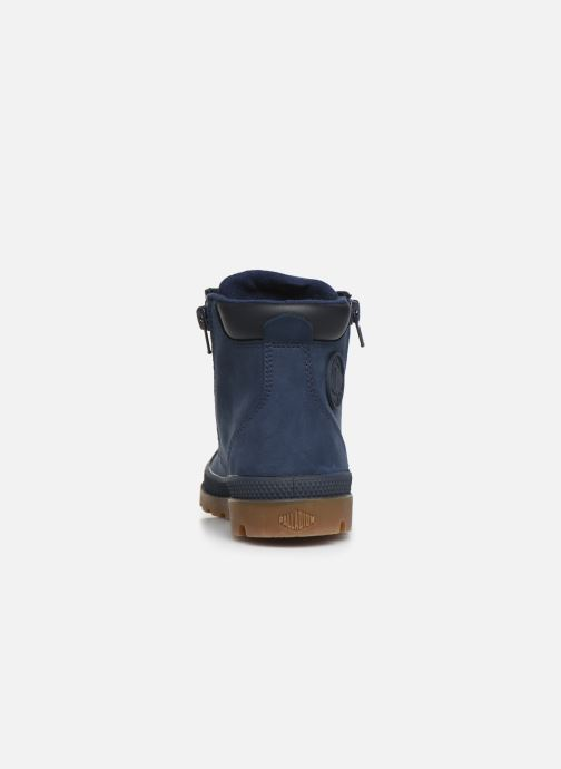 Ankle boots Palladium Hi Cuff Wp K Blue view from the right