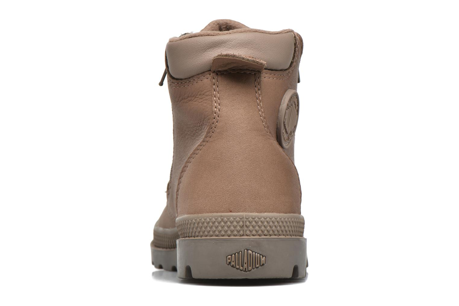 Ankle boots Palladium Hi Cuff Wp K Brown view from the right