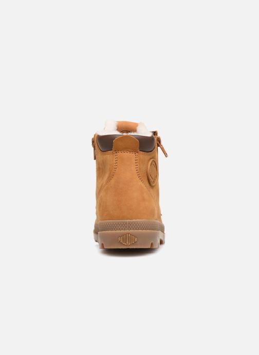 Bottines et boots Palladium Hi Cuff Wps K Marron vue droite