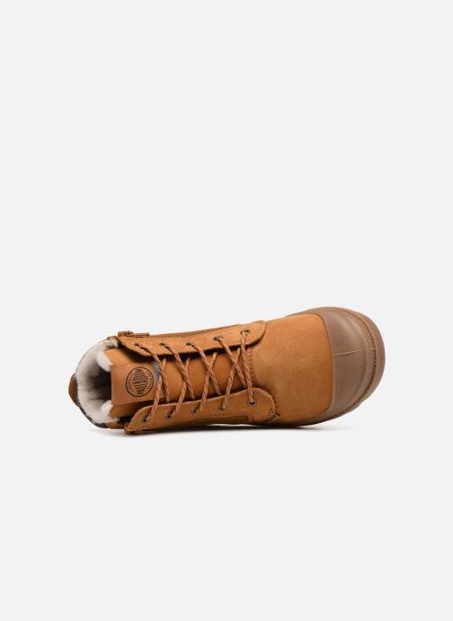 Bottines et boots Palladium Hi Cuff Wps K Marron vue gauche