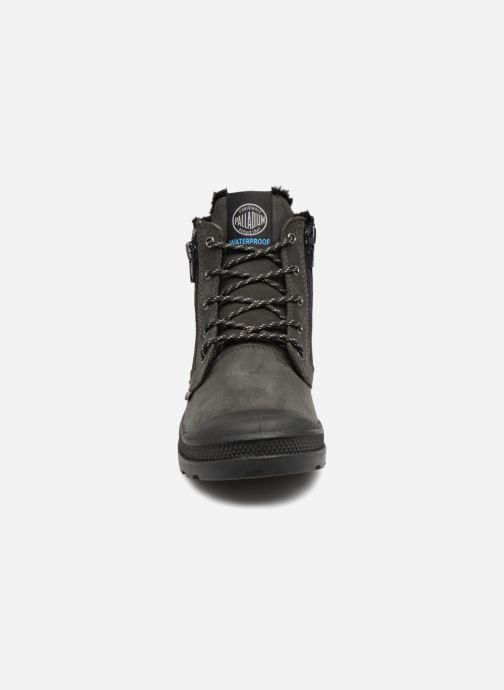 Bottines et boots Palladium Hi Cuff Wps K Gris vue portées chaussures