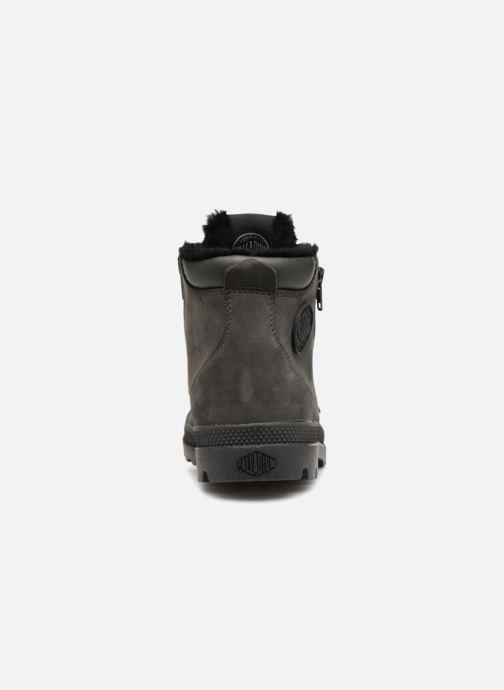 Bottines et boots Palladium Hi Cuff Wps K Gris vue droite