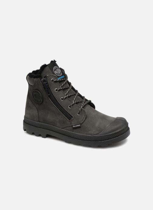 Bottines et boots Palladium Hi Cuff Wps K Gris vue détail/paire