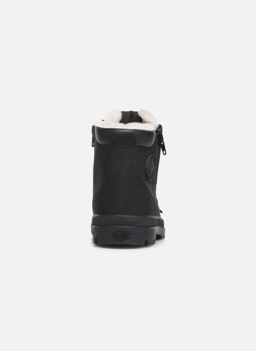 Ankle boots Palladium Hi Cuff Wps K Black view from the right