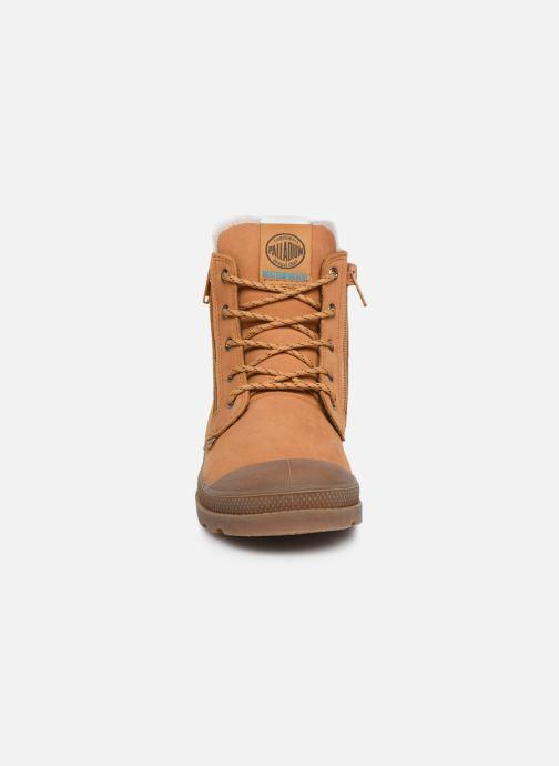 Bottines et boots Palladium Hi Cuff Wps K Marron vue portées chaussures