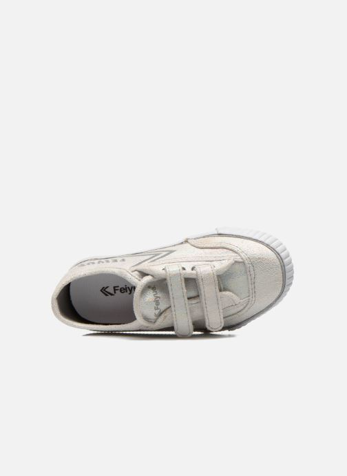 Trainers Feiyue Fe Lo Glitter Easy Silver view from the left