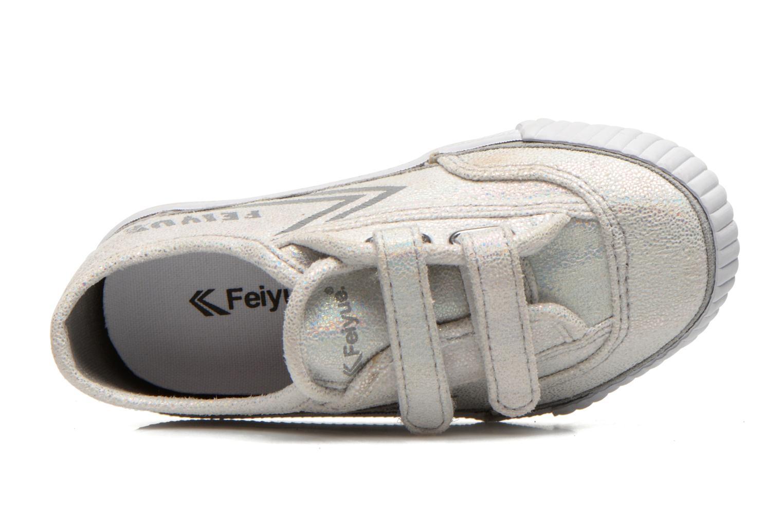 Sneakers Feiyue Fe Lo Glitter Easy Argento immagine sinistra