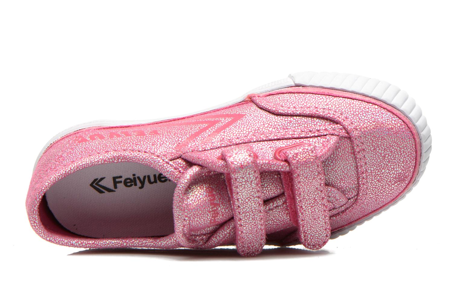 Trainers Feiyue Fe Lo Glitter Easy Pink view from the left