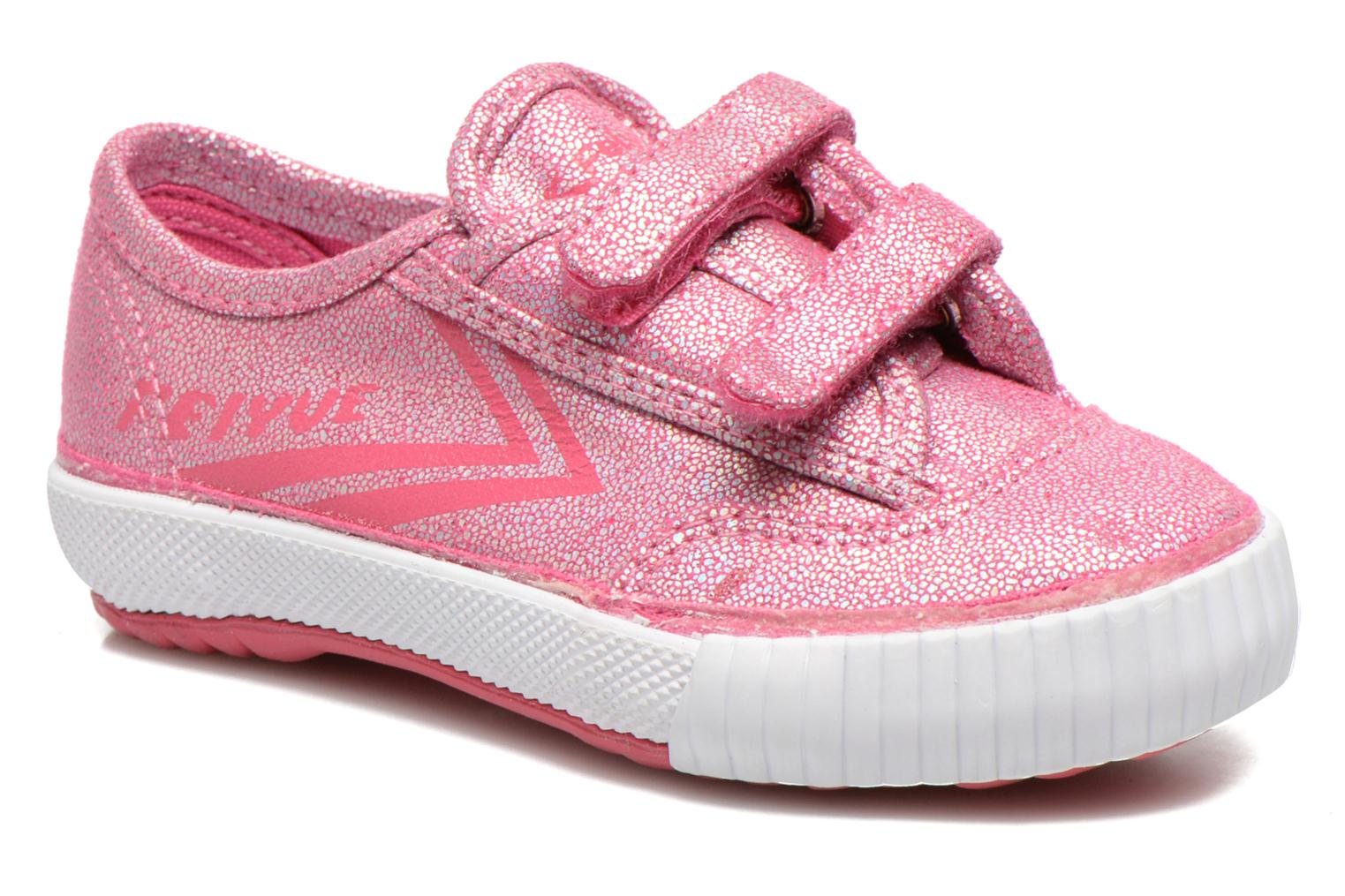 Baskets Feiyue Fe Lo Glitter Easy Rose vue détail/paire