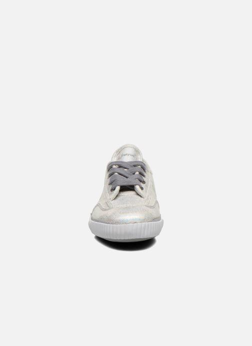 Sneakers Feiyue Fe Lo Glitter Argento modello indossato