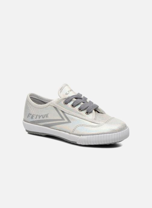 Trainers Feiyue Fe Lo Glitter Silver detailed view/ Pair view