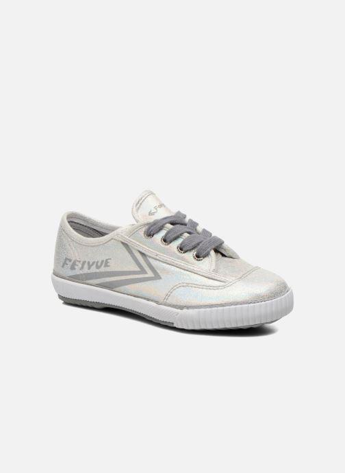 Sneakers Feiyue Fe Lo Glitter Zilver detail