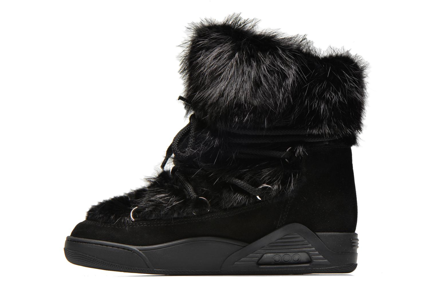 Bottines et boots Serafini Moon Fur Noir vue face
