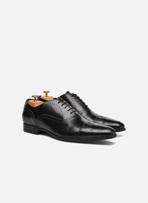 Lace-up shoes Santoni William 14431 Black 3/4 view
