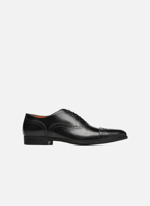 Lace-up shoes Santoni William 14431 Black back view