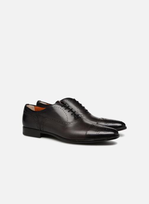 Lace-up shoes Santoni William 14431 Grey 3/4 view