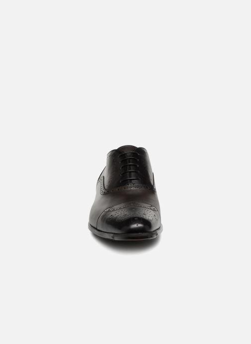 Chaussures à lacets Santoni William 14431 Gris vue portées chaussures