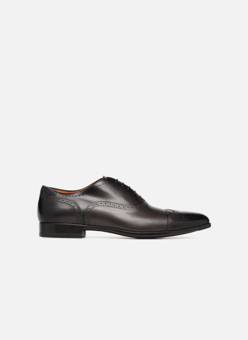 Lace-up shoes Santoni William 14431 Grey back view