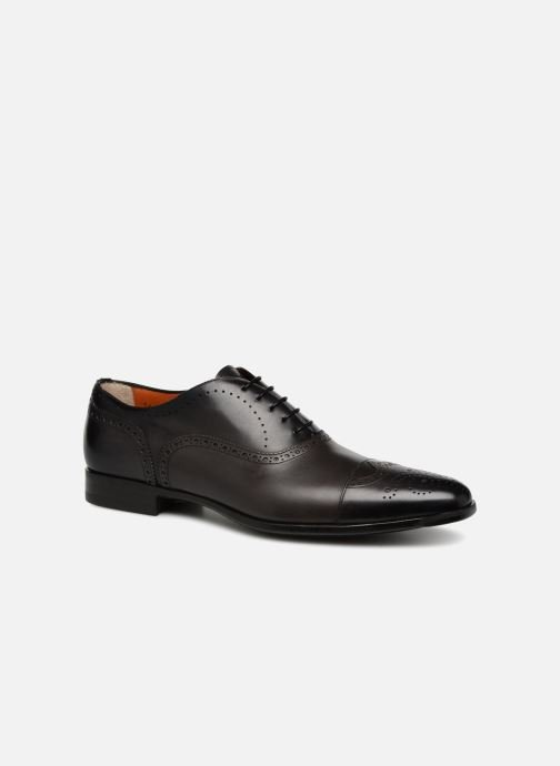 Lace-up shoes Santoni William 14431 Grey detailed view/ Pair view