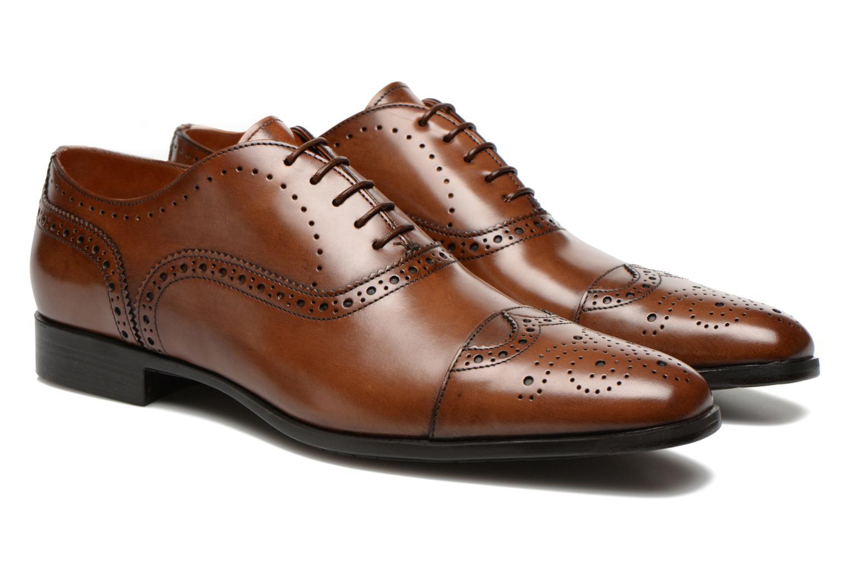 Chaussures à lacets Santoni William 14431 Marron vue 3/4