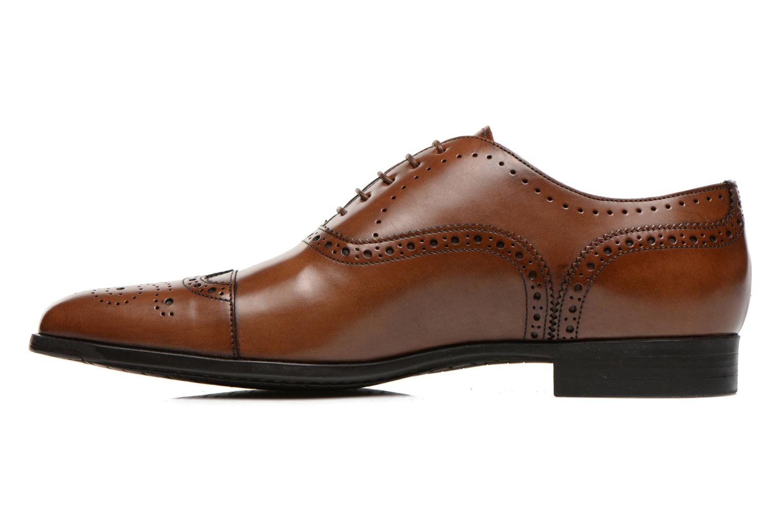 Snörade skor Santoni William 14431 Brun bild från framsidan