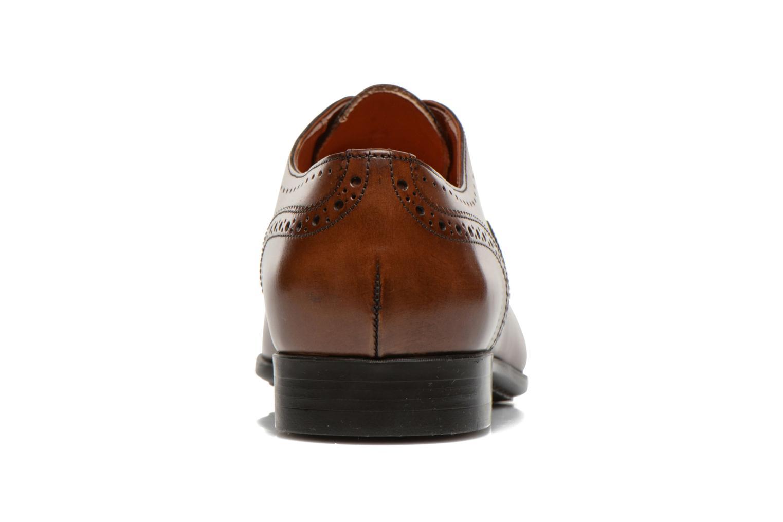 Chaussures à lacets Santoni William 14431 Marron vue droite