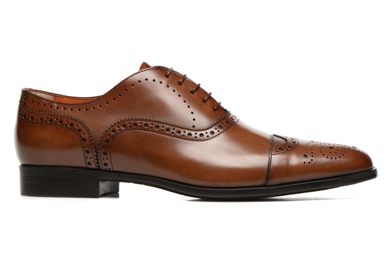 Snörade skor Santoni William 14431 Brun bild från baksidan