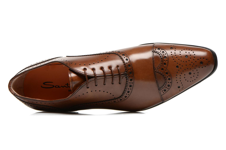 Chaussures à lacets Santoni William 14431 Marron vue gauche