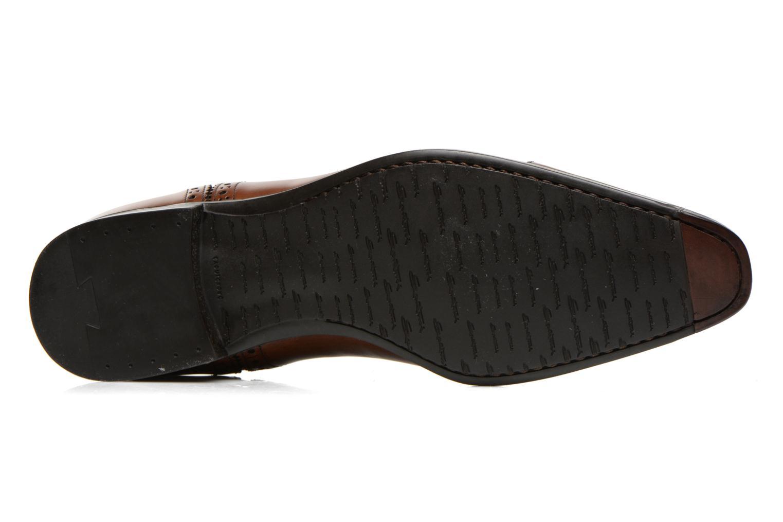 Chaussures à lacets Santoni William 14431 Marron vue haut
