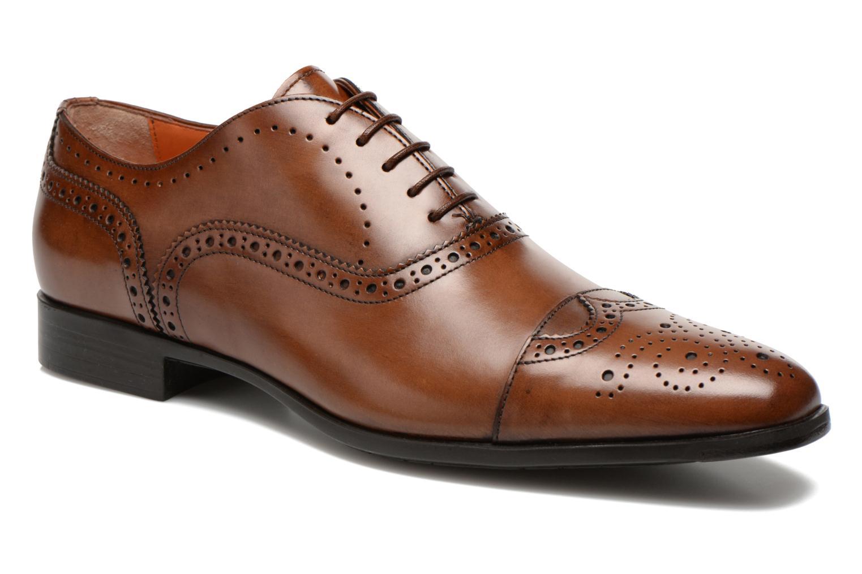 Snörade skor Santoni William 14431 Brun detaljerad bild på paret