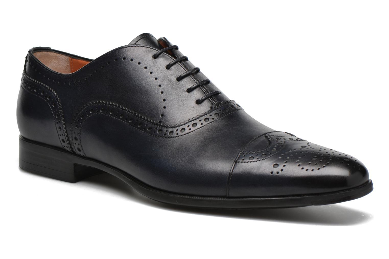 Snörade skor Santoni William 14431 Blå detaljerad bild på paret