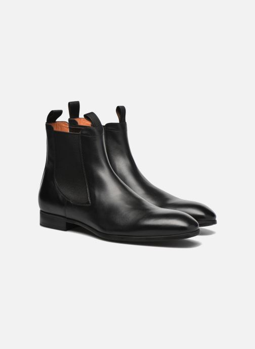Ankle boots Santoni Simon 13414 Black 3/4 view