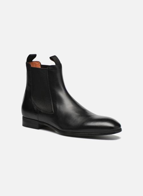 Ankle boots Santoni Simon 13414 Black detailed view/ Pair view