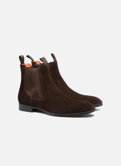 Ankle boots Santoni Simon 13414 Brown 3/4 view